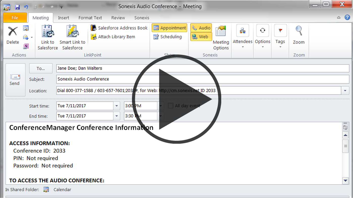 Audio and web conference, Conference Bridge, Audio conferencing, video conferencing
