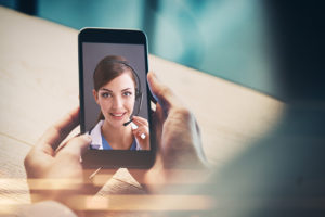 Image result for images of video conference on mobile by doctor